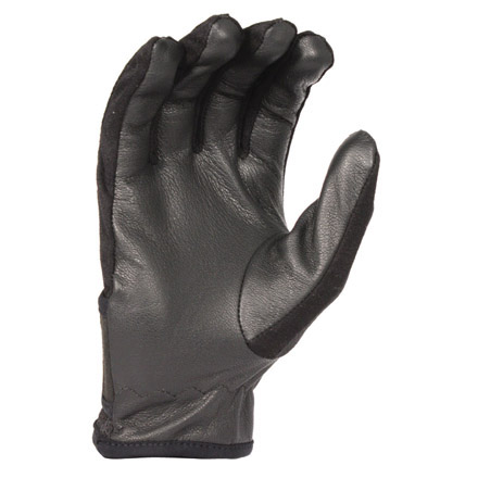 Mens Goatskin Leather Palm Mesh Back Shooting Gloves M/L Black