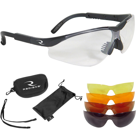 T-85 Shooting Glasses Clear, Smoke, Amber, Orange Interchangeable Lens Kit