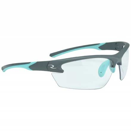 Ladies Range Glasses Clear Lens Aqua and Charcoal Frame
