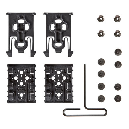 Safariland ELS Equipment Locking Kit - Black Contains 2 Forks and Plates