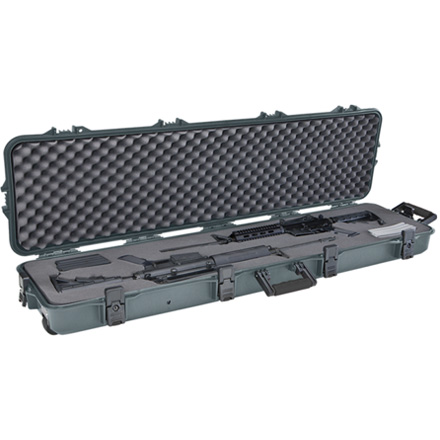Image for Gun Guard AW Double Scoped Rifle Case With Wheels And Pluck Foam Green With Black