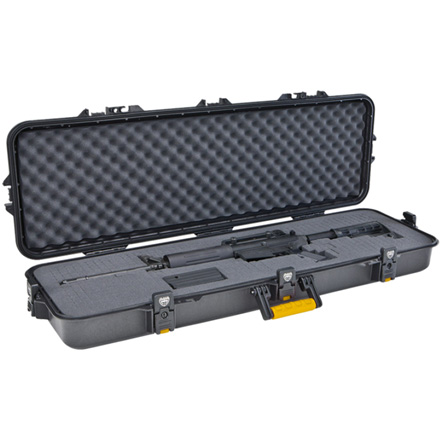 "Image for Gun Guard AW Rifle Case 42"" Black With Yellow Latches And Handles"