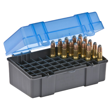 50 Round Ammo Box 22-250/30-30/330/35 Rem Blue and Gray