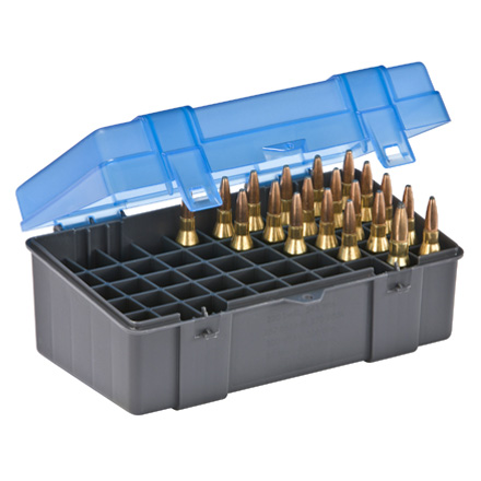 50 Round Ammo Box 220 Swift Through 45-70  Blue and Gray