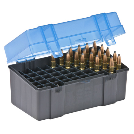 50 Round Ammo Box 25-06/378/375-300 Blue and Gray