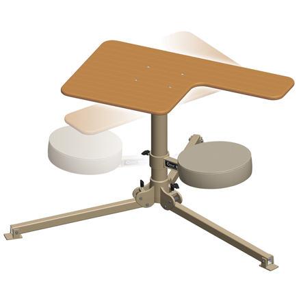 Image for BR Pivot Shooting Bench Butcher Block Top