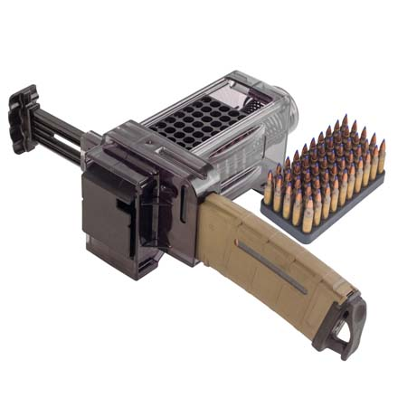 AR Mag Charger Accepts 50 Rounds of .223 5.56 and .204