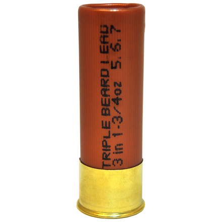 12 Gauge Triple Beard 3 inch 1-3/4 oz. #5,6,7 Shot 1,300 fps 10 Rounds