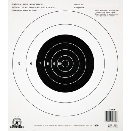 Champion 25 Yard Slow Fire NRA Target 12 Pack