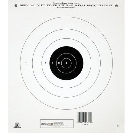 Champion 50 Foot Timed and Rapid Fire NRA Target 12 Pack