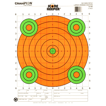 Champion 100YD Sight In Large Orange Bull 12 Pack