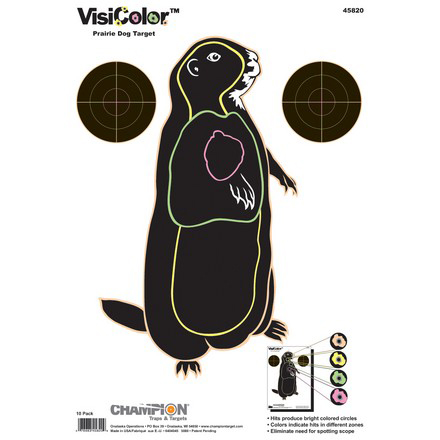 "11x16"" VisiColor Prairie Dog High-Visibility Paper Target 10 Pack"