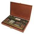 Outers 32 Piece Universal Cleaning Kit 17 Caliber - 12 Gauge With Wood Box