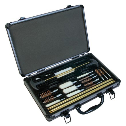 Outers 32 Piece Universal Cleaning Kit 22 Caliber - 12 Gauge With Aluminum Case