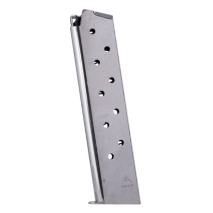 Colt 1911 45 ACP Nickel Finish 10 Round Magazine