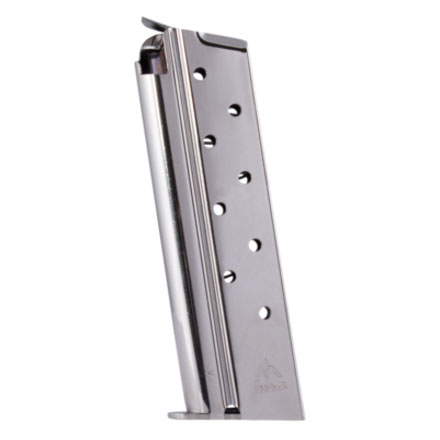 1911 38 Super Nickel Finish Standard 9 Round Magazine