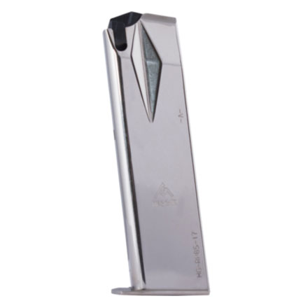 Ruger P85/P89/P93/P94/P95 9mm Flush Fit Nickel Finish 17 Round Mag. (High Capacity)