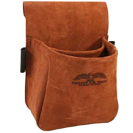 Trap/Skeet Shooter Suede Leather Shell Bag
