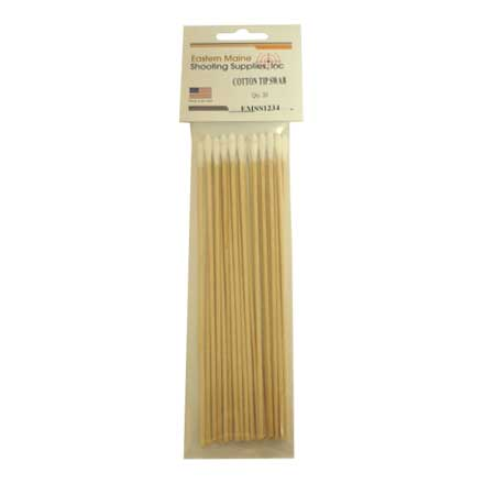 "Double Ended 6"" Cotton Tipped Cleaning Swabs Wood Shaft 20 Count"