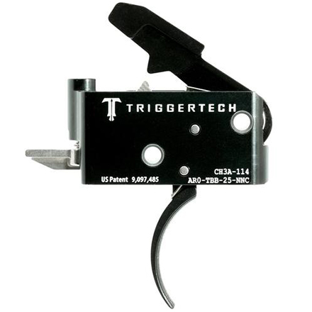 Adaptable Curved Trigger AR-15 Two Stage with Frictionless Release Black Finish