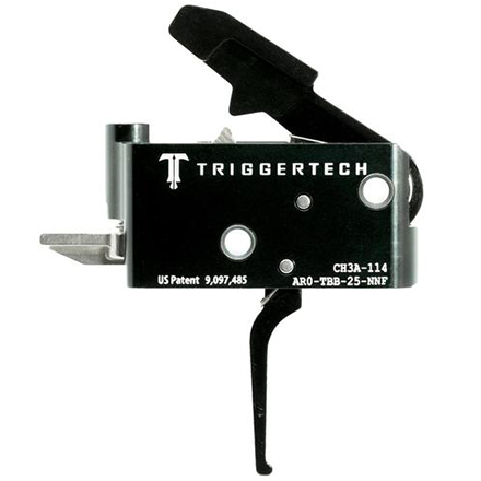 Adaptable Flat Trigger AR-15 Two Stage with Frictionless Release Black Finish