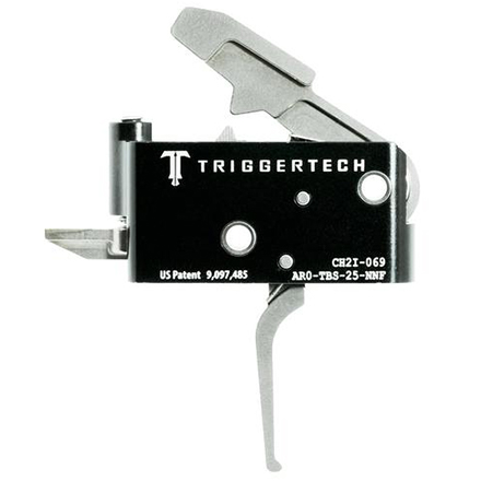 Adaptable Flat Trigger AR-15 Two Stage with Frictionless Release Silver Finish