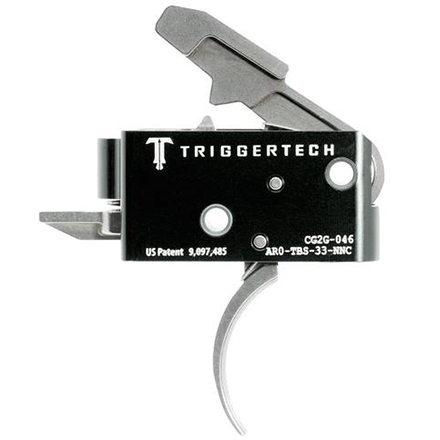 Competitive Curved Trigger AR-15 Two Stage with Frictionless Release Silver Finish