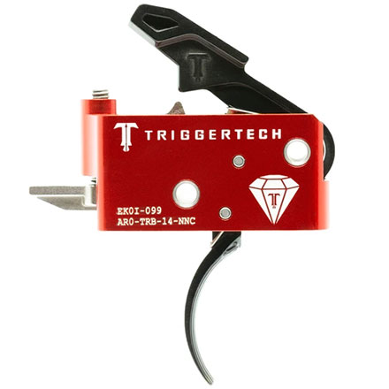 Diamond Curved Trigger AR-15 Two Stage with Frictionless Release Black Finish