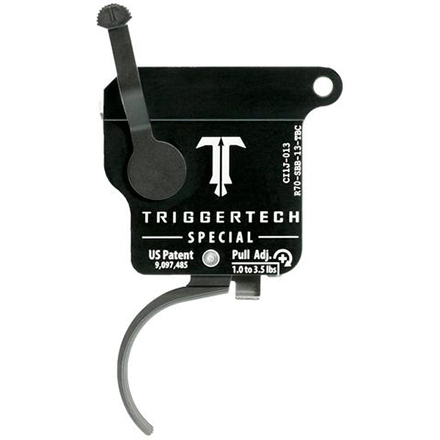 Special Curved Right Hand Trigger Remington 700 Single Stage with Bolt Release Safety Black Finish