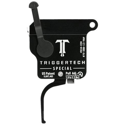 Special Flat Right Hand Trigger Remington 700 Single Stage with Bolt Release Safety Black Finish