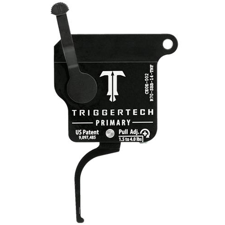 Primary Flat Right Hand Trigger Remington 700 Clone Single Stage with Safety Black Finish