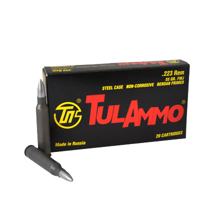 TULA 223 Remington 55 Grain Full Metal Jacket 20 Rounds