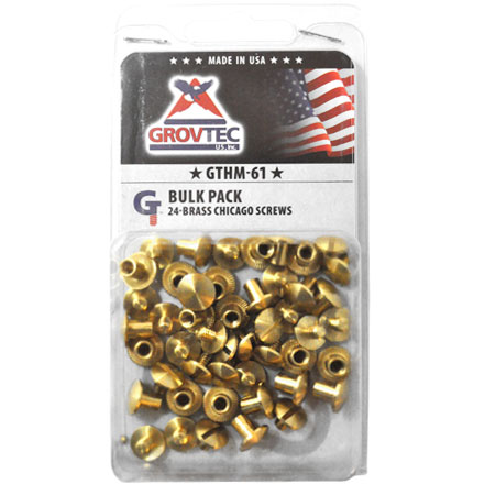 Brass Chicago Screws 24 Pack