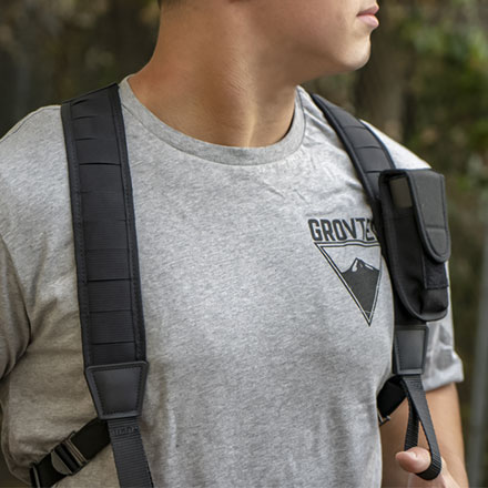 Molle Backpack Sling with Push Button Swivels