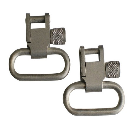 "1"" Pair Nickel Locking Swivels for Any Standard Sling Swivel Stud"