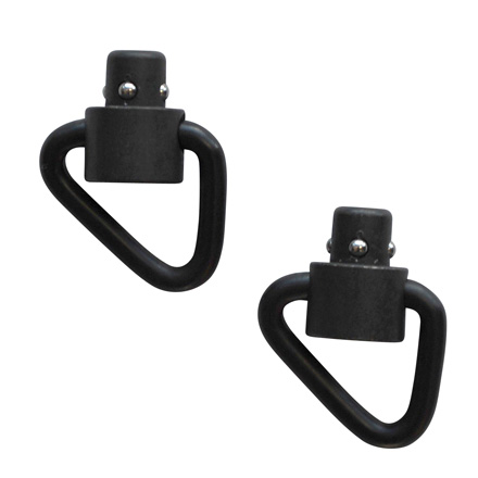 Recessed Plunger Heavy Duty Push Button Swivels - Angled Loop