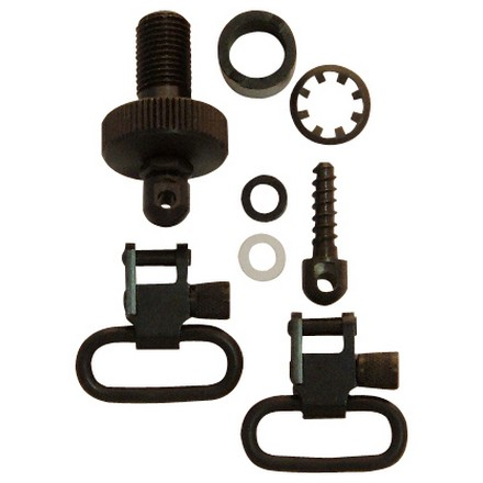 "1"" Swivel & Cap Set For Mossberg 500 20 Gauge Black Oxide Finish"