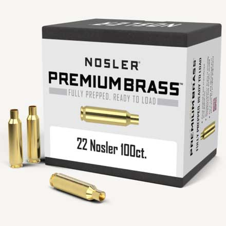 22 Nosler Unprimed Rifle Brass 100 Count