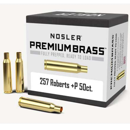 257 Roberts (Plus P) Unprimed Rifle Brass 50 Count