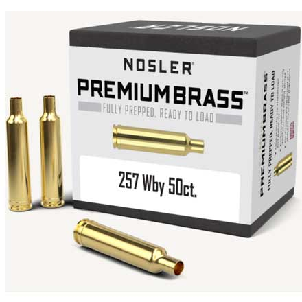 257 Weatherby Unprimed Rifle Brass 50 Count