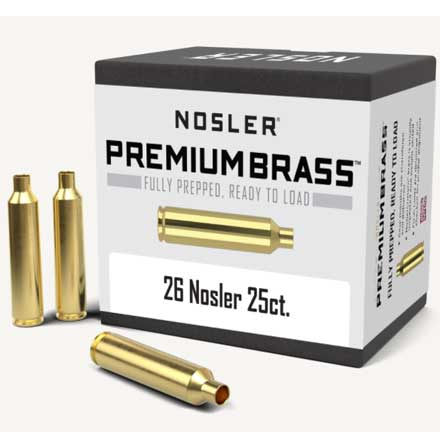26 Nosler Unprimed Rifle Brass 25 Count