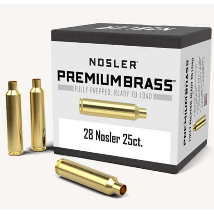 28 Nosler Unprimed Rifle Brass 25 Count