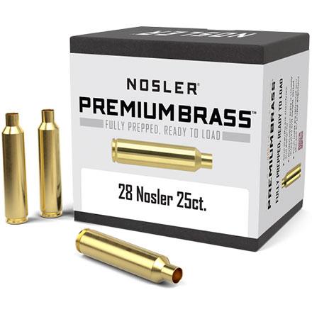 28 Nosler Unprimed Rifle Brass 25 Count