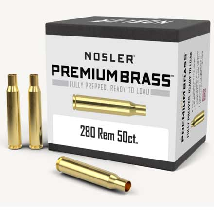 280 Remington Unprimed Rifle Brass 50 Count