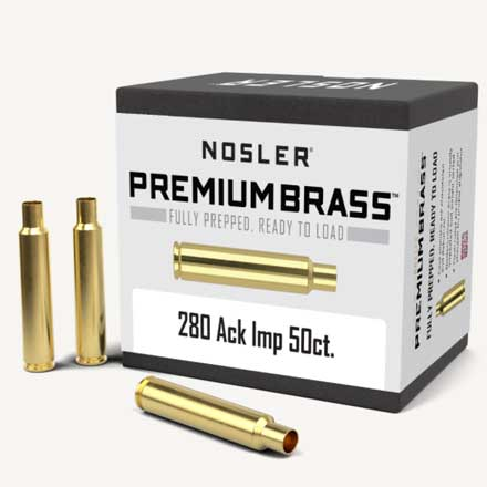 280 Remington Ackley Improved Unprimed Rifle Brass 50 Count