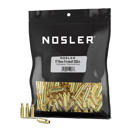 17 Remington Fireball Bulk Un-Prepped Brass 100 Count