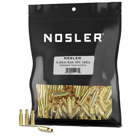 6.8mm Remington SPC Nosler HS Unprimed Brass 100 Count