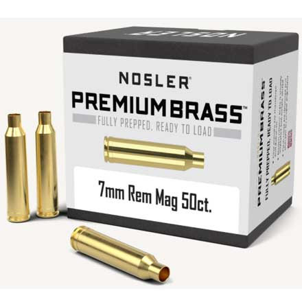 7mm Remington Magnum Unprimed Rifle Brass 50 Count