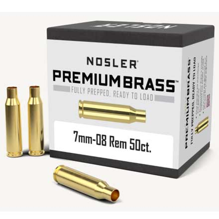 7mm-08 Remington Unprimed Rifle Brass 50 Count