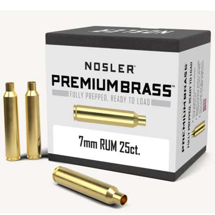 7mm Remington Ultra Mag Unprimed Rifle Brass 25 Count